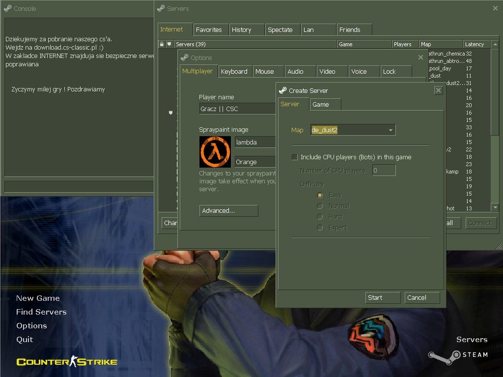 Counter strike 1. 6 v43 non steam/steam download.